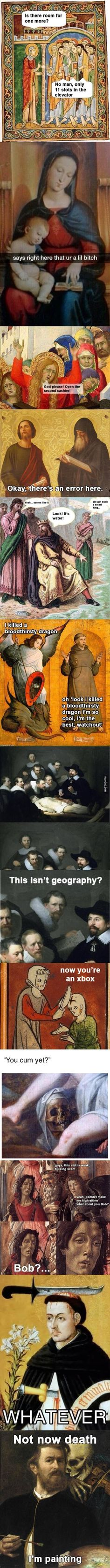 Old paintings with subtitles part I (http://9gag.com/gag/arRqKR5?ref=9d)