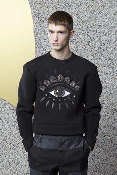 """Just in at KENZO's eshop : Men's """"Lotus Eye"""" neoprene sweatshirt"""