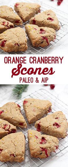 Orange and cranberry scones - paleo and AIP