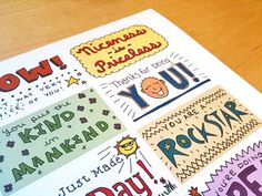 Cute little free printable lunch notes.  #PaperMateBTS    # Pin++ for Pinterest #