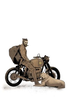 Logan and His Bike by BenBrush on DeviantArt – Best Motorcycles Human Figure Sketches, Figure Sketching, Motorcycle Art, Bike Art, Cute Cartoon Pictures, Cartoon Ideas, Cartoon Pics, Beard Art, Cartoon Wallpaper Hd