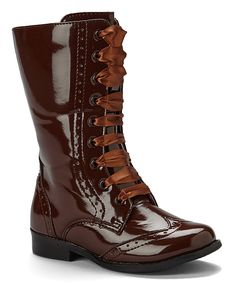Look what I found on #zulily! L'Amour Shoes Brown Brogue Boot by L'Amour Shoes #zulilyfinds