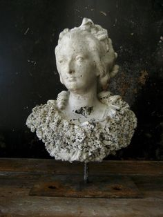 Industrial Marie Antoinette Sculpture French by LagunaGardenworks
