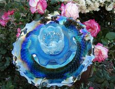 Custom Order Recycled Repurposed Garden Art Glass Flower Suncatcher By Jarmfarm - pinned by pin4etsy.com