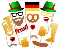 Printable Oktoberfest Photo Booth Props - Instant Download Oktoberfest Photobooth Props - German Photo Booth Props - Germany - Beer Steins
