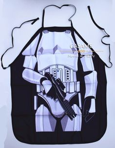 """Storm Trooper""  novelty apron. STAR WARS.  Poly cotton. Tie up back."