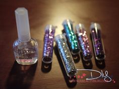 DIY Glitter Nail Polish ~ I just did this!  And I love it!  I added A LOT of glitter, and my nails are way glittery.  Gorgeous!  (Use a very fine glitter.)