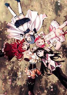 tags: Art, Fanart, Anime, Magical Girls, Magical Girl, Kyubey, Homura Akemi, Madoka Kaname, Kyoko Sakura, Mami Tomoe, Sayaka Miki, Group, Mahou Shojo Madoka Magica, Mahou Shoujo Madoka Magica, Puella Magi Madoka Magica, manga.