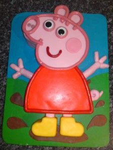 Peppa pig. Made for my 4 yr old granddaughter and she loved it  7/17/2012