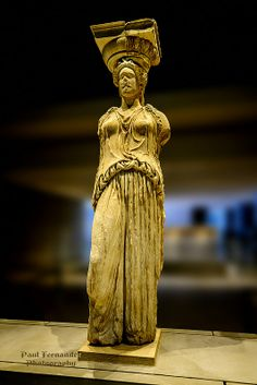 The Caryatid (Frontal View), the Acropolis Museum, Athens, Greece Ancient Greek Art, Ancient Rome, Ancient Greece, Egyptian Art, Ancient Aliens, Greek History, Ancient History, European History, American History