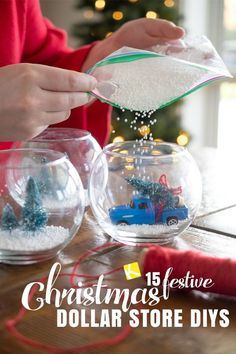 15 Dollar Store Christmas DIY Projects Anyone Can Do This year, skip the expensive ornaments and lighting and make your own Dollar Tree Christmas decorations. Just add a little elbow grease to make these Christmas DIY projects shine. 15 Dollar Store, Dollar Store Crafts, Dollar Stores, Dollar Tree Christmas, Christmas Bulbs, Christmas 2019, Christmas Ideas To Make, Cheap Christmas Crafts, Diy Christmas Gifts For Kids