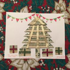 A real money tree!  Use the idea to jazz up your money gift at Christmas.