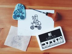 You've Got Mail  Handcarved & Handprinted by PaprikaPaperGoods