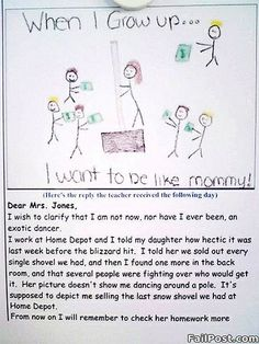 When I Grow Up I Want to be Like Mommy