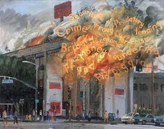 Alex Schaefer, Sunset & Vine. oil/canvas.