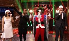 The 'Tonight Show' host is also joined by Queen Latifah and Eric Nally as he parodies popular songs of 2015 to wish everybody a happy holiday.