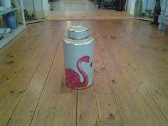 Flamingo Lidded Jar Shop Interiors, Jar Lids, Flamingo, Water Bottle, Fine Art, Frame, Flamingo Bird, Picture Frame, Flamingos
