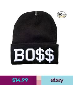 019282b0a5d  14.99 - Boss Bo   Beanie Hat (Black With White Logo) Free Shipping Usa   ebay  Fashion