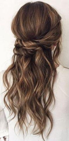 Wedding Hairstyles Thin Hair, Half Up Wedding Hair, Wedding Hairstyles Half Up Half Down, Wedding Hair And Makeup, Bridesmaids Hairstyles, Wedding Nails, Bridal Hairstyles, Wedding Clip, Bridesmaids Nails
