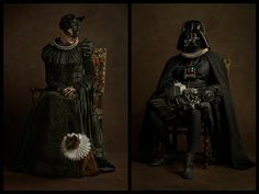 """Already used to elaboratecostumes and plenty of highdrama, these classic comic book and """"Star Wars"""" characters have never looked so regal than they do in Renaissance era clothing. From the genius mind of French photographerSacha Goldberger, theseunlikely mashups producesome entertaining results — however, it'sthe attention to detail, (such as correct poses, lighting and ambience from the 16th century) thatreally elevates these pictures to an outstanding level. Check them out!"""