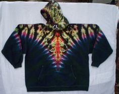 Tierra Totem Tie Dye con capucha tamaño mediano por tiedyetodd