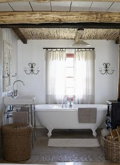 love the ceiling over tub