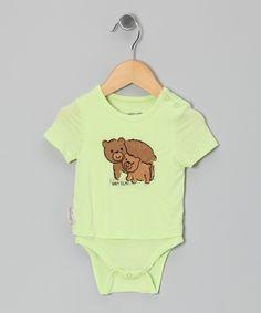 Lemongrass Bear Organic Layered Bodysuit