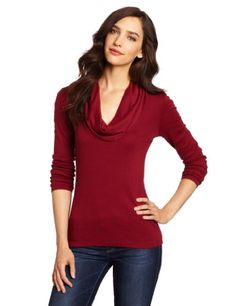 2ac8891e4472da Three Dots Women`s Cowl Neck Top  43.99 (save  31.01) + Free Shipping