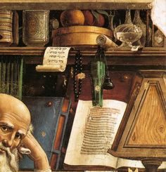 St. Jerome in his Study (detail) by Domenico Ghirlandaio, 1480 detail