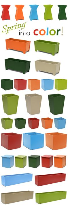 Bright and Bold! Find your color at urbilis.com. Modern patio planters perfect for spring!