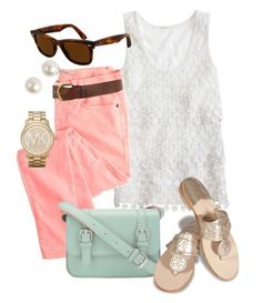Spring pastels - everything but those shoes ugh