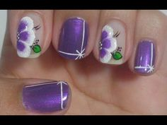 Unhas Decoradas Rendinha com Flor de Poá Manual Bela e Simples Nail Art - YouTube
