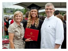 My Aunt Kim and my cousin Khaki with my uncle at Khakis college graduation! full story on www.tystyleme.com