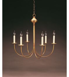 Northeast Lantern Signature 6 Light Chandelier in Antique Brass 906-AB-LT6 #lighting Multiple brass/copper finishes