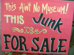 Sign at Petticoats on the Prairie--<3 it!