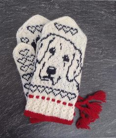 Ravelry: Golden Retriever Mittens pattern by Connie H Design Knitted Mittens Pattern, Knit Mittens, Mitten Gloves, Knitting Socks, Knitting Charts, Knitting Patterns, Crochet Patterns, Baby Mittens, Fingerless Mittens