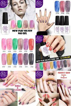 [Visit to Buy] Sexy mix Fashion 7ML UV Fur Nail Gel Polish Nail Gel Lacquer Soak Off Colorful UV Fur Color Gel Nail Polish #Advertisement
