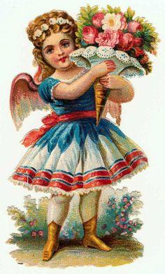 Victorian Clip Art - Pretty Little Fairy Girl - The Graphics Fairy Clip Art Vintage, Vintage Ephemera, Vintage Cards, Vintage Postcards, Graphics Fairy, Vintage Pictures, Vintage Images, Images Victoriennes, Time Images