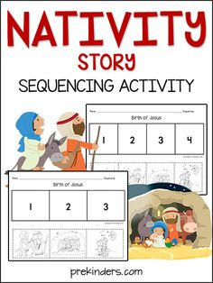 Jesus' Birth (Nativity Story) Sequencing Activity More