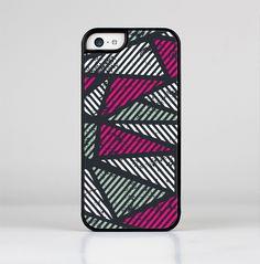 The Abstract Striped Vibrant Trangles Skin-Sert for the Apple iPhone 5c Skin-Sert Case