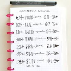 You don't have to be an artist to bring your BuJo to life. Check out some of our favourite Bullet Journal banners and tips on how to draw them! Bullet Journal Headers, Bullet Journal Notes, Bullet Journal Ideas Pages, My Journal, Bullet Journal Inspiration, Journal Pages, Journals, Bullet Journal Layout Daily, Borders Bullet Journal