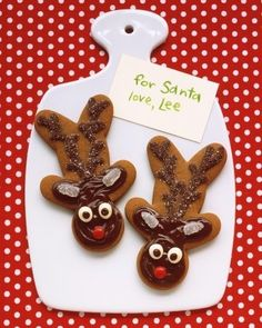 Cute reindeer cookies for Santa :-)