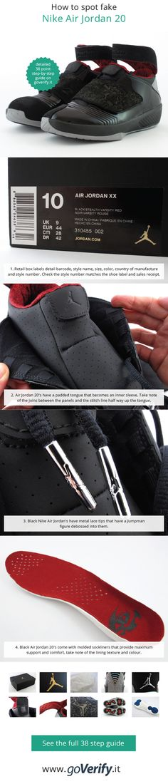 bc5e318df4c92d How to spot fake Nike Air Jordan 20 s