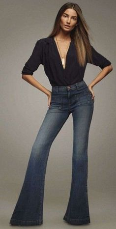 Lily Aldridge- love this outfit 70s Fashion, Look Fashion, Autumn Fashion, Fashion Outfits, Womens Fashion, Jean Outfits, Casual Outfits, Looks Jeans, Outfit Jeans