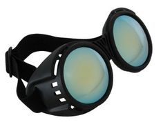 - Industrial Goggles - Black & Blue with Mirror Lenses. Great for Steampunk Goggles, Cyberpunk Goggles, Steampunk Inventor Goggles, or Burning Man Goggles. Steampunk Glasses, Steampunk Goggles, Steampunk Cosplay, Steampunk Clothing, Steampunk Fashion, Steampunk Accessories, Steampunk Diy, Steampunk Makeup, Steampunk Bedroom