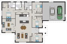 Wonderful house plan with all you need! 4 Bedroom House Plans, House Floor Plans, Sims House, Story House, Big Houses, Home Improvement Projects, Easy Projects, Future House, Improve Yourself