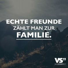 Echte Freunde zählt man zur Familie. Visual Statements, In A Heartbeat, Friendship, Feelings, Cool Stuff, Quotes, Inspiration, Frienship Quotes, Friend Quotes