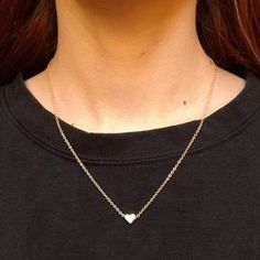 Mini heart gold plated necklace