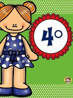 numeros ordinales con muñequitos   Oltre 1000 idee su Dibujos Animados Para Niños su Pinterest   Oso ...