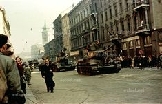 1956 uprising in colour, Budapest, Hungary Military Armor, Never Change, Budapest Hungary, Panzer, Colour Images, Coat Of Arms, Colorful Pictures, Ancestry, Old Photos